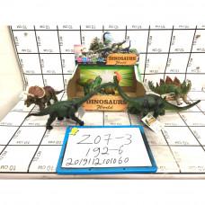 Динозавры 6 шт. в блоке, 192 шт. в кор. Z07-3