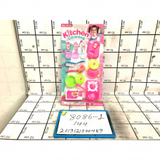 Кухонный набор на блистере, 144 шт. в кор. 8086-1