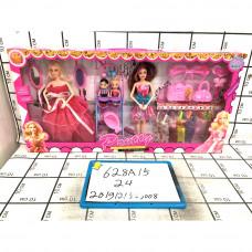 Кукла 2 шт. в наборе с пупсами и аксессуарами, 24 шт. в кор. 628A15