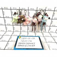 Мягкие игрушки Брелок 12 шт. в блоке, 1200 шт. в кор. 1264-16-18