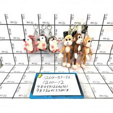 Мягкие игрушки Брелок 12 шт. в блоке, 1200 шт. в кор. 1264-51-36