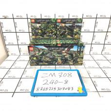 Конструктор Военная техника 8 шт. в блоке, 240 шт. в кор. ZM708