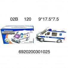 Машина Полиция 3D (свет, звук), 120 шт. в кор. 02B