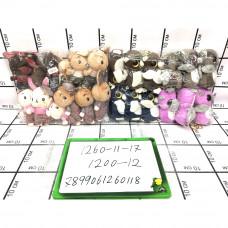 Мягкие игрушки 12 шт. в блоке, 1200 шт. в кор. 1260-11-17