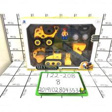 Конструктор набор машинок с гаечным ключом, 8 шт. в кор. 122-20B