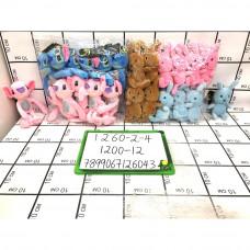 Мягкие игрушки 12 шт. в блоке, 1200 шт. в кор. 1260-2-4