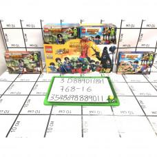 Конструктор 16 шт. в блоке, 768 шт. в кор. 3D88901/8H