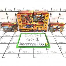 Конструктор Супергерои 12 шт. в блоке, 720 шт. в кор. ZM246