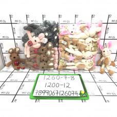 Мягкие игрушки 12 шт. в блоке, 1200 шт. в кор. 1260-7-8