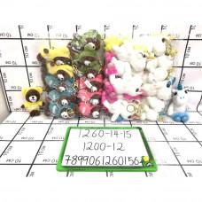 Мягкие игрушки 12 шт. в блоке, 1200 шт. в кор. 1260-14-15