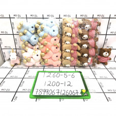 Мягкие игрушки 12 шт. в блоке, 1200 шт. в кор. 1260-5-6