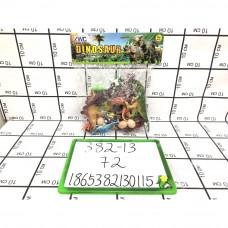 Динозавры в пакете, 72 шт в кор. 382-13