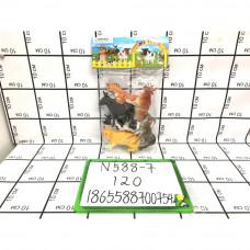 Домашние животные в пакете, 120 шт в кор. N588-7