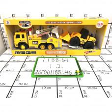 Городская грузовая машина с трактором (свет, звук), 12 шт. в кор. 1188-54
