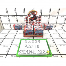 Конструктор Пожарная машина 10в1 10 шт. в блоке, 720 шт. в кор. 52009