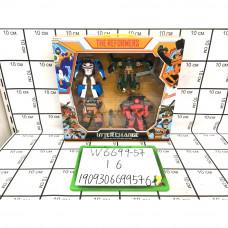 Робот Трансформер 4 шт. в наборе, 16 шт в кор. W6699-57