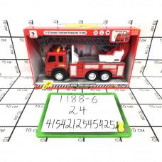 Пожарная машина (свет, звук), 24 шт. в кор. 1188-6