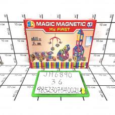 Конструктор Магнитный, 36 шт. в кор. JH6890