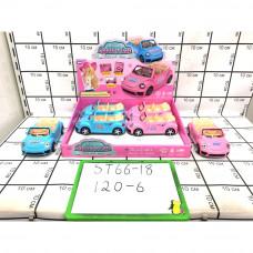 Машинки 6 шт в блоке, 120 шт в кор. ST66-18