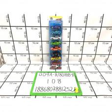 Модельки 8 шт в уп. 108 шт в кор. 009A-8/8078B-8