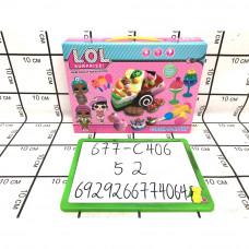 Цветное тесто Кукла в шаре 52 шт в кор. 677-C406