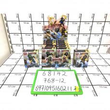 Конструктор Ниндзя 12 шт. в блоке, 768 шт. в кор. 68142
