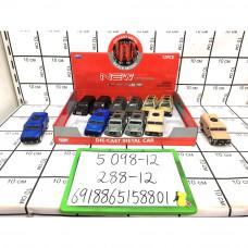 Машинки металл 12 шт в блоке, 288 шт в кор. 5098-12
