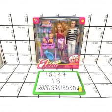 Куклы набор семья 48 шт в кор. 18037
