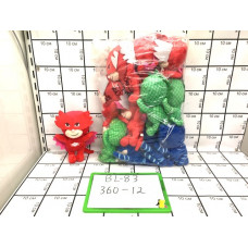 Мягкая игрушка Герои в масках 12 шт в блоке, 360 шт в кор. BL-83