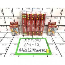Конструктор Ниндзя 12 шт в блоке, 600 шт в кор. XY18003