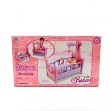 Кроватка для пупса 12 шт в кор. 008-10