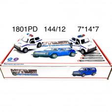 1801PD Машинки (металл) 12 шт. в блоке,12 блоке в кор.