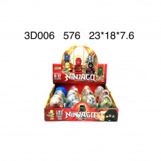 Конструктор Ниндзя в яйце, 12 шт в блоке. арт.3D006