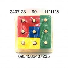 2407-23 Логическая игрушка Сортер (дерево), 90 шт. в кор.