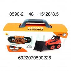 0590-2 Трактор конструктор в кейсе 48 шт в кор.