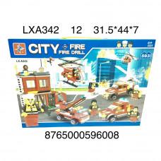 LXA342 Конструктор Пожарная станция 593 дет., 12 шт. в кор.