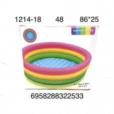 1214-18 Надувной бассейн 86см, 48 шт в кор