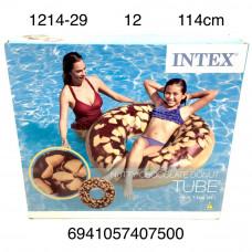1214-29 Надувной круг пончик 114см. 12 шт в кор.