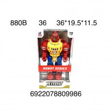 880B Робот на батарейках свет звук 36 шт в кор.