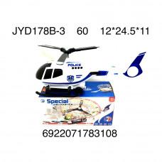 Вертолёт Полиция (свет, звук), 60 шт. в кор. JYD178B-3