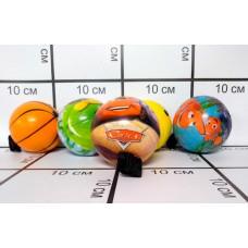Мячики пенка на резинке, 12шт в блоке