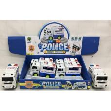 Модельки машин Полиция 6 шт. в блоке 144 шт в кор. RS5673