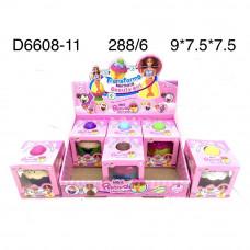 D6608-11 Кукла в кексе 6 шт. в блоке, 288 шт в кор.