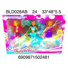 BLD028AB Куклы Феи 3 шт. в наборе, 24 шт. в кор.