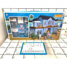 Счастливая семья набор с домиком, 4 шт. в кор. 012-11