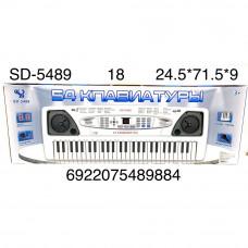 SD-5489 Синтезатор электронный (свет, звук), 18 шт. в кор.