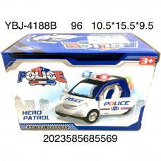 YBJ-4188B Машинка Полиция на батарейках (свет, звук), 96 шт. в кор.