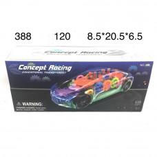 388 Машинка с шестерёнками на батарейках (свет, звук), 120 шт. в кор.