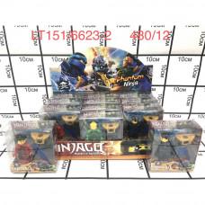 LT151/6623-2 Фигурки Ниндзя 12 шт. в блоке, 480 шт в кор.
