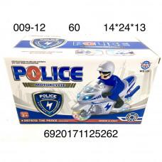 009-12 Мотоцикл Полиция (свет, звук), 60 шт. в кор.